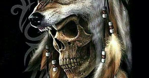 Native Skull Art Wolves Pinterest Wolf