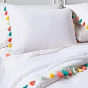Tassel Comforter Set White Pillowfort Target Target Kids Room Comforter Sets Target Bedding