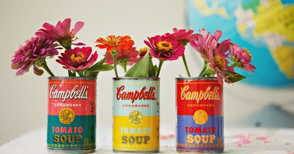 DIY Soup Can Flower Pots Must try!