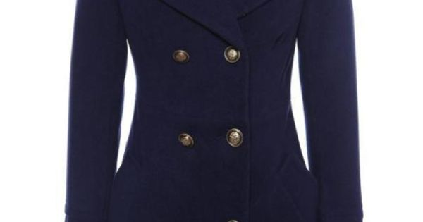 Navy Long Sleeve Lapel Epaulet Pockets Coat Us 37 70 Fashion Diva Pinterest Navy Clothes