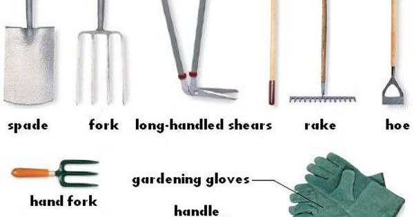 Garden equipment for Gardening tools vocabulary
