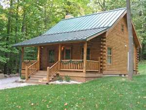 Green Metal Roof Small Log Cabin Small Log Cabin Kits Small Cabin Plans