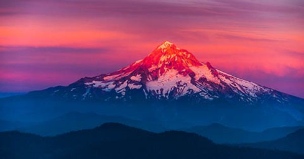 High-resolution desktop wallpaper Mt Hood Painted by ...