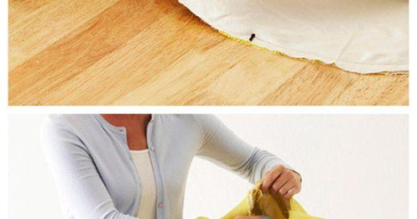 DIY pouf floor cushion