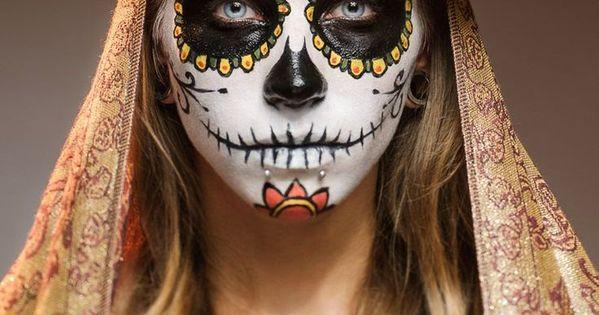 Dia de la muerte maquillage la f te des morts f te mexicaine et rapport - Maquillage fete des morts ...