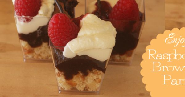 Raspberry brownies, Parfait recipes and Parfait on Pinterest