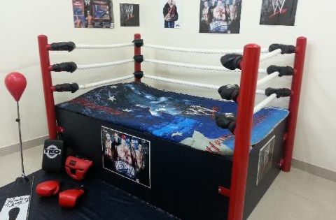 wwe bed   WWE Bed Amazing for childran   Qatar Living. DIY Wrestling Bed   step by step instructions    DIY Home