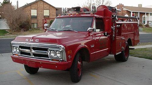 On The Way 1970 Gmc Fire Truck Fire Trucks Fire Equipment Emergency Vehicles