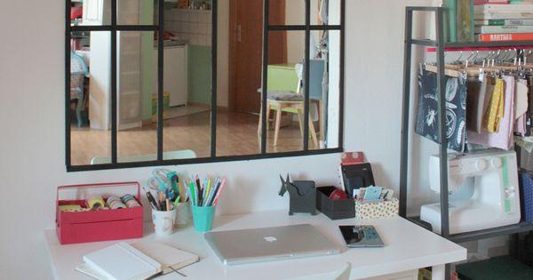 faire une verri re int rieure avec un simple miroir try. Black Bedroom Furniture Sets. Home Design Ideas