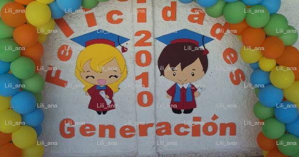 Decoraci n con globos para graduaci n preescolar buscar for Decoracion de licenciatura
