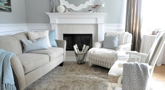 Coastal Living Room Calming Colors Paint In Picture Is A Custom Mix But Blogger Said That It