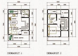 50 Contoh Gambar Denah Rumah Minimalis Denah Rumah Rumah Rumah Minimalis