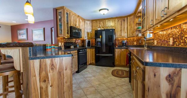 Kitchen With Rustic Reclaimed Wood Galley Kitchen Cabinet Using