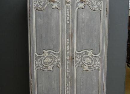 Armoire de mariage peinte origine normandie xix me for Patiner une armoire