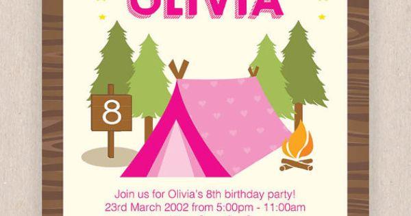 Camping Invitations Birthday is amazing invitation sample