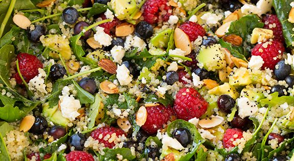 Poppy seed dressing, Kale salads and Quinoa on Pinterest