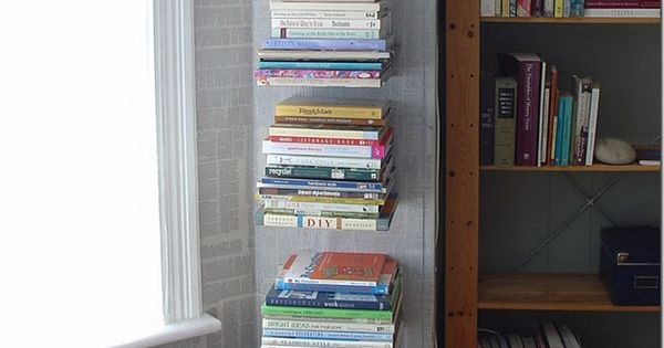 DIY invisible book shelves? Cool idea!