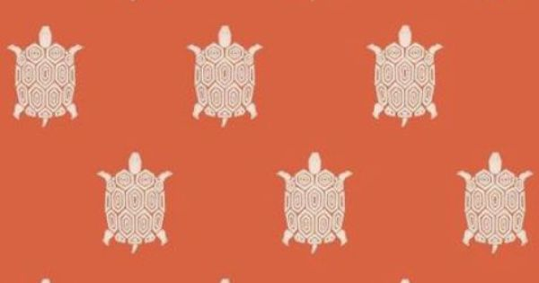 Turtle Bay wallpaper in Coral #Thibaut