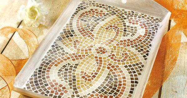 mosaik tablett basteln idee mit anleitung klick auf besuchen mosaik pinterest. Black Bedroom Furniture Sets. Home Design Ideas