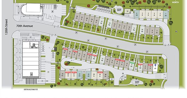 Scott Hill Developments Introduces The Master Plan For The Walks Double Garage Townhouses In Surrey Scott Road Site Development Plan Vancouver Condo Townhouse
