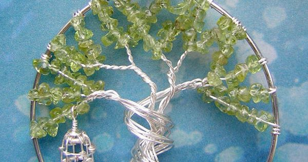 World Tree Sword Art Online Themed Tree of Life Wire-Wrapped Pendant Jewelry