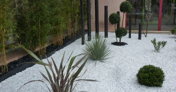 Massif contemporain entr e d 39 hotel jardin pinterest for Massif paysager contemporain