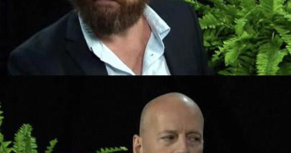 Zach Galifianakis & Bruce Willis - my fave between two ferns episode