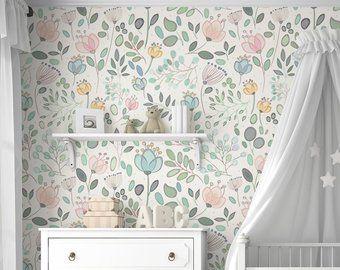 Murale De Papier Peint Floral D Amara Floral à L Aquarelle