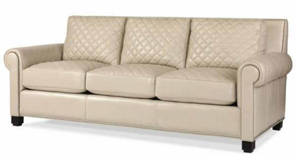 Leather Upholstery Quilted Leather Stationary Sofa By Century Baer 39 S Furniture Sofa Miami