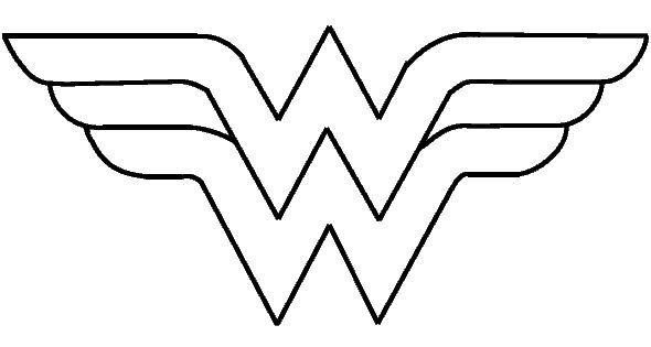 Download Coloring Pages Wonder Woman Pages In Pages: Wonder-woman-logo.gif (590×324)