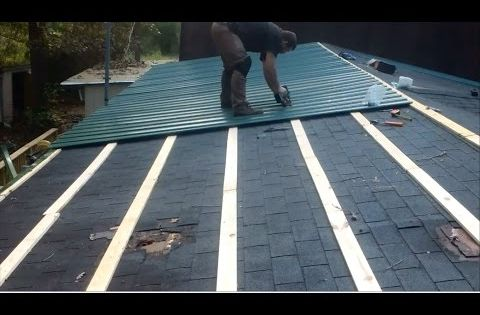 Metal Roof Over Shingles On A Mobile Home By Myself