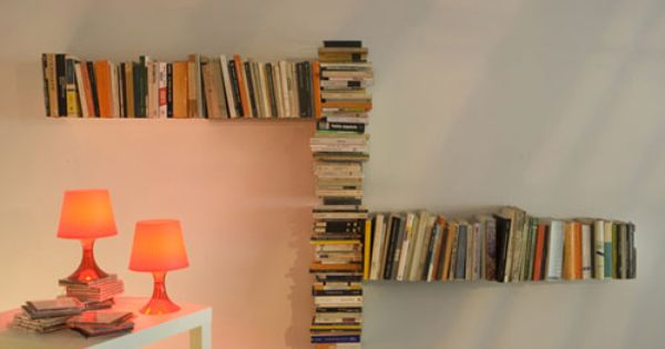 Modern Nearly Invisible Bookshelf Design By Mauro Canfory