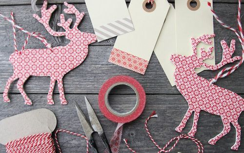 Reindeer cutout punch? Great idea for Christmas tags.