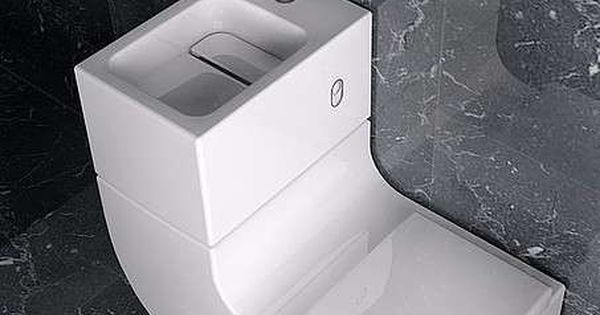 W W Toilet And Sink Space Saving Bathroom Modern Toilet