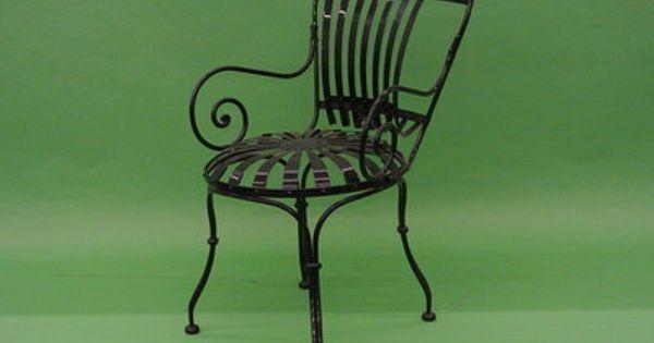 Carre Iron Chair Carre Sunburst Chairs Furniture Restoration