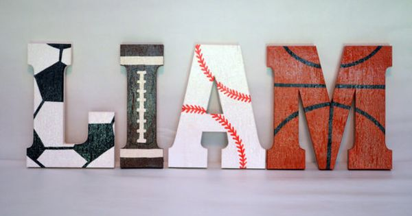 Sports Letters Custom Made Wood Wooden Wall Decor