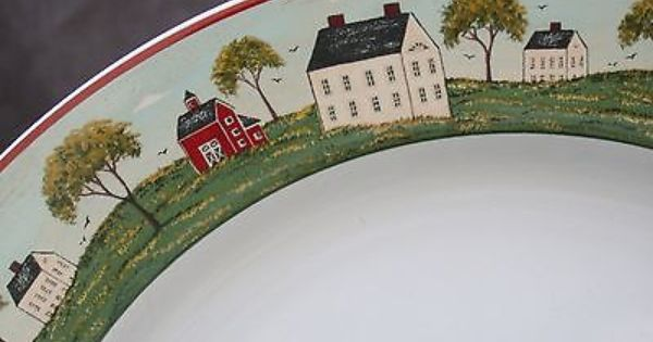 11 Warren Kimble Country Life One Dinner Plates Sakura Brandon House Country Life Dinnerware Ebay Dinner Plates