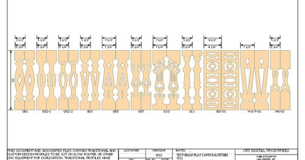 Victorian Sawn Balusters 11 Victorian Flat Baluster