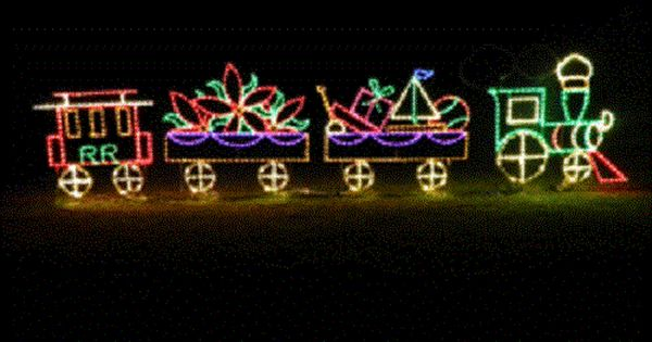 Large Pro Christmas Train Outdoor Holiday Led Lighted Decoration