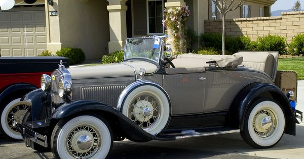 1931 Ford Model A Roadster Beige With Top Down Fvl