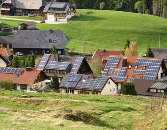 Small Segment Of A German Farming Village Showing How Pervasive Solar Panels Are Throughout The Country Cr Renewable Energy Renewable Solar Sustainable Energy