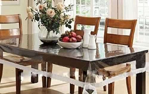 Heat Resistant Easy Clean Waterproof Plastic Table Cover Crystal Clear Pvc Tablecloth Protector 60 I Dining Table In Kitchen Dining Table Modern Dining Table