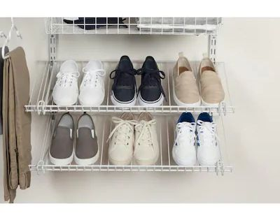 Rubbermaid Fasttrack White Wire Shoe Shelf Kit At Lowes Com Shoe
