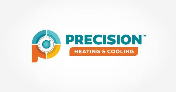 Logo Design For Precision Heating Cooling Nj Advertising Agency Nj Ad Agency Nj Truck Wrap Design Nj Lo Small Business Logo Portfolio Logo Business Logo