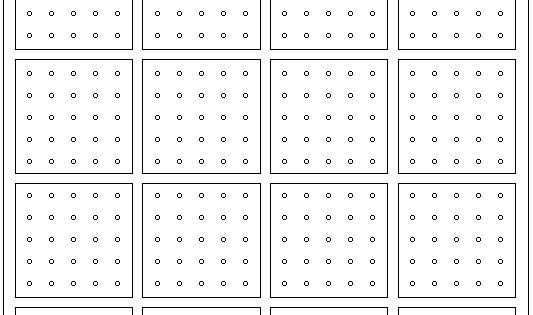 Math Forum: Geoboard Dot Paper 5x5