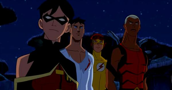 Season 1 Episode 2 Fireworks: Robin, Superboy, Kid Flash ...