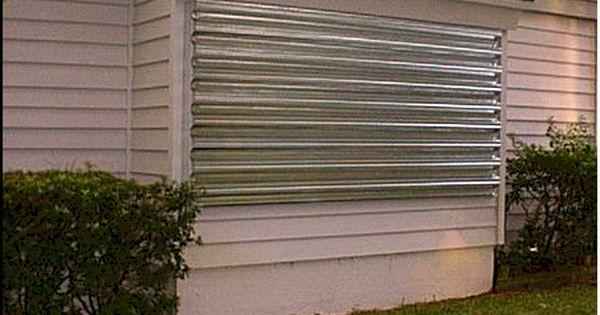 Tampa Metal Hurricane Shutters Panels Hurricane Protection Products Hurricane Shutters Shutters Exterior Outdoor Shutters