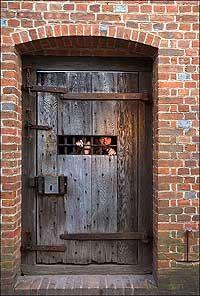 Jail Goal Door In Williamsburg Williamsburg Colonial Williamsburg Historic Paint Colours
