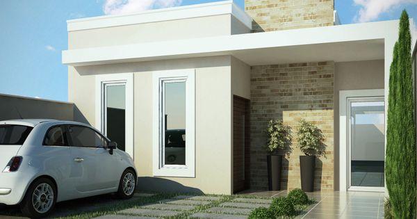 Fachadas de casas pequenas 10 modelos terrazas for Jardines de casas pequenas