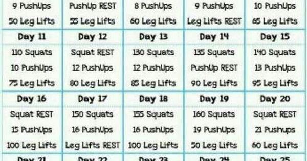 30 Day Guns, Buns & Abs Challenge Health Fitness Trusper Tip